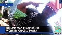 Hombre muere decapitado en una torre de comunicaciones, su cuerpo cuelga de arnés por 5 horas