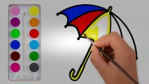 Draw and color videos for kids  How to Draw and Color Umbrella| Coloring Pages for Kids| Learn Colo | Educational child channel