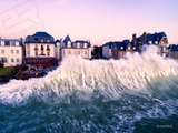 Les vagues des grandes marées filmées en Drone - Easy Ride Opérateur drone