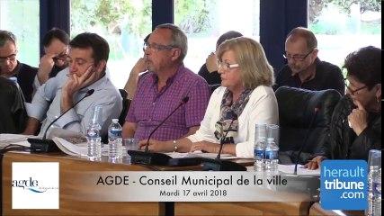 AGDE - Conseil Municipal - Mardi 17 Avril 2018