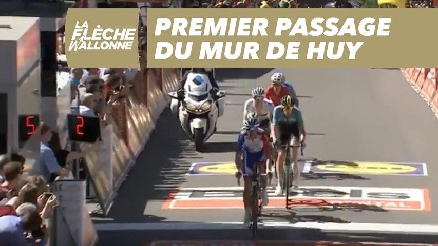 Premier passage du Mur de Huy - La Flèche Wallonne 2018