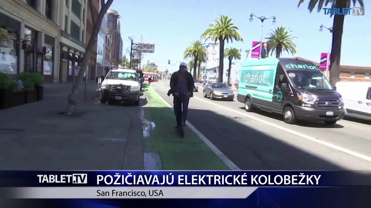 San Francisco: Znížiť počet áut v meste a zlepšiť kvalitu ovzdušia majú požičovne elektrických kolobežiek