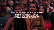 Kim Kardashian Jokes With Chrissy Teigen Over Kanye West's Tweets