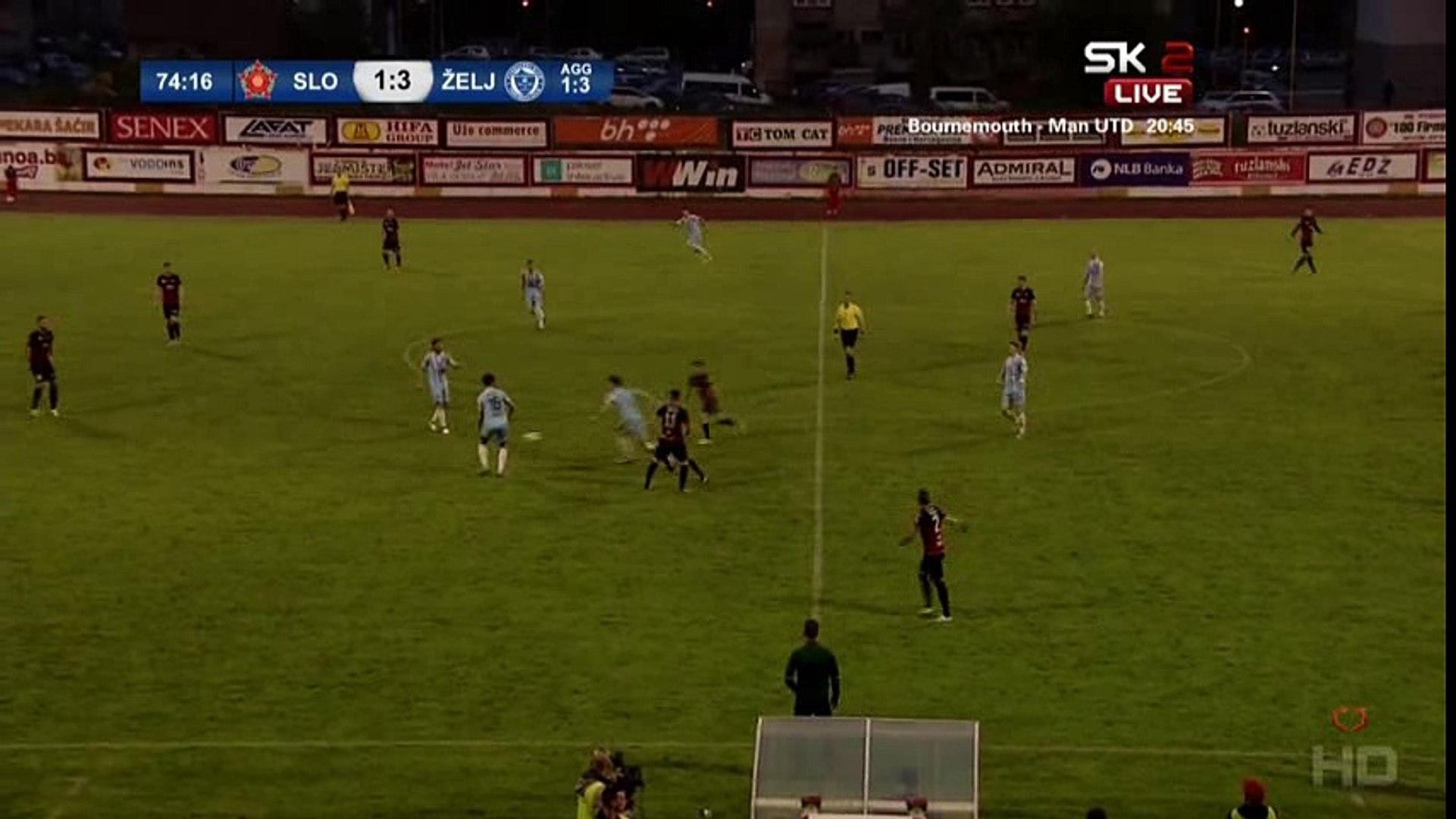 FK Sloboda - FK Željezničar [Kup] / 1:4 Zakarić - Hat-trick