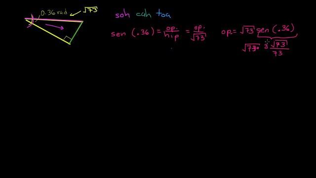 Uusando funciones trigonométricas. Parte II