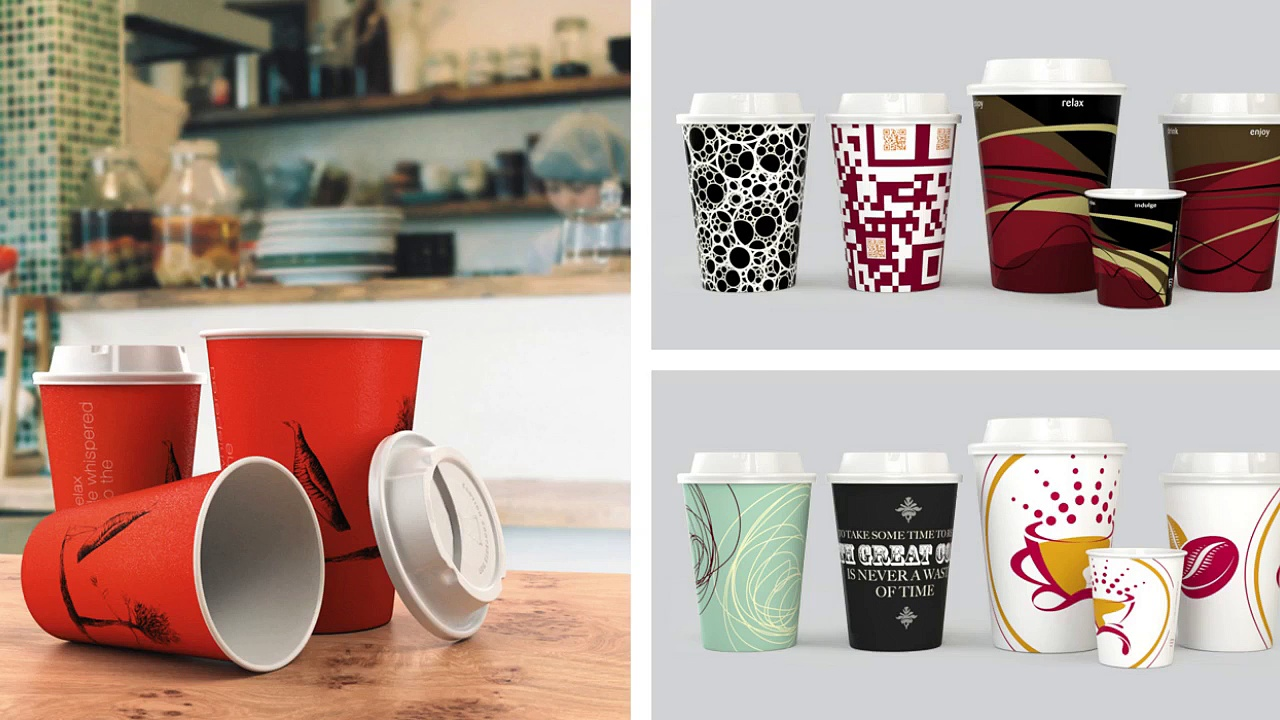 Promotional Custom Paper Cups Product Designs