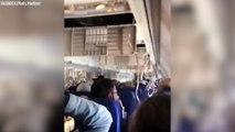 Un passager filme l'intérieur de l'avion de la Southwest après l'explosion d'un moteur en vol
