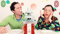 CHOCOLATE FOUNTAIN CHALLENGE extreme en COUPLE - Mélange de goûts BEURK - Démo Jouets