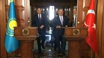 Dışişleri Bakanı Mevlüt Çavuşoğlu, Kırgızistanlı mevkidaşı ile ortak basın toplantısı düzenledi