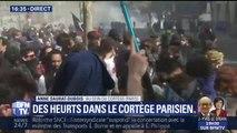 Mobilisation: des heurts dans le cortège parisien