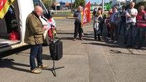 Claude Gaudin, Sécrétaire de l'union locale CGT du Pays d'Ancenis à la manifestation du jeudi 19 avril.