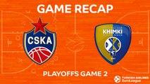Highlights: CSKA Moscow - Khimki Moscow region