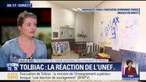 """Tolbiac: la présidente de l'Unef estime que les dégradations sont aussi dues """"à l'intervention des forces de l'ordre"""""""