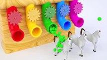 Lernen Sie Farben mit Fußballbällen Überraschung Eier für Kinder Farben Ballons Bäll