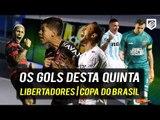 OS GOLS DESTA QUINTA   SELEÇÕES DA COPA (19/04/2018) LIBERTADORES   COPA DO BRASIL