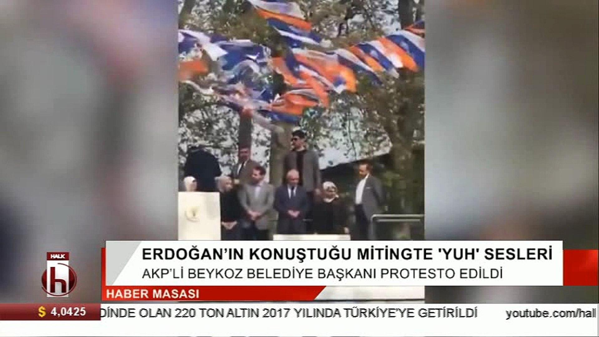 Erdoğan'ın mitinginde 'yuh' sesleri…