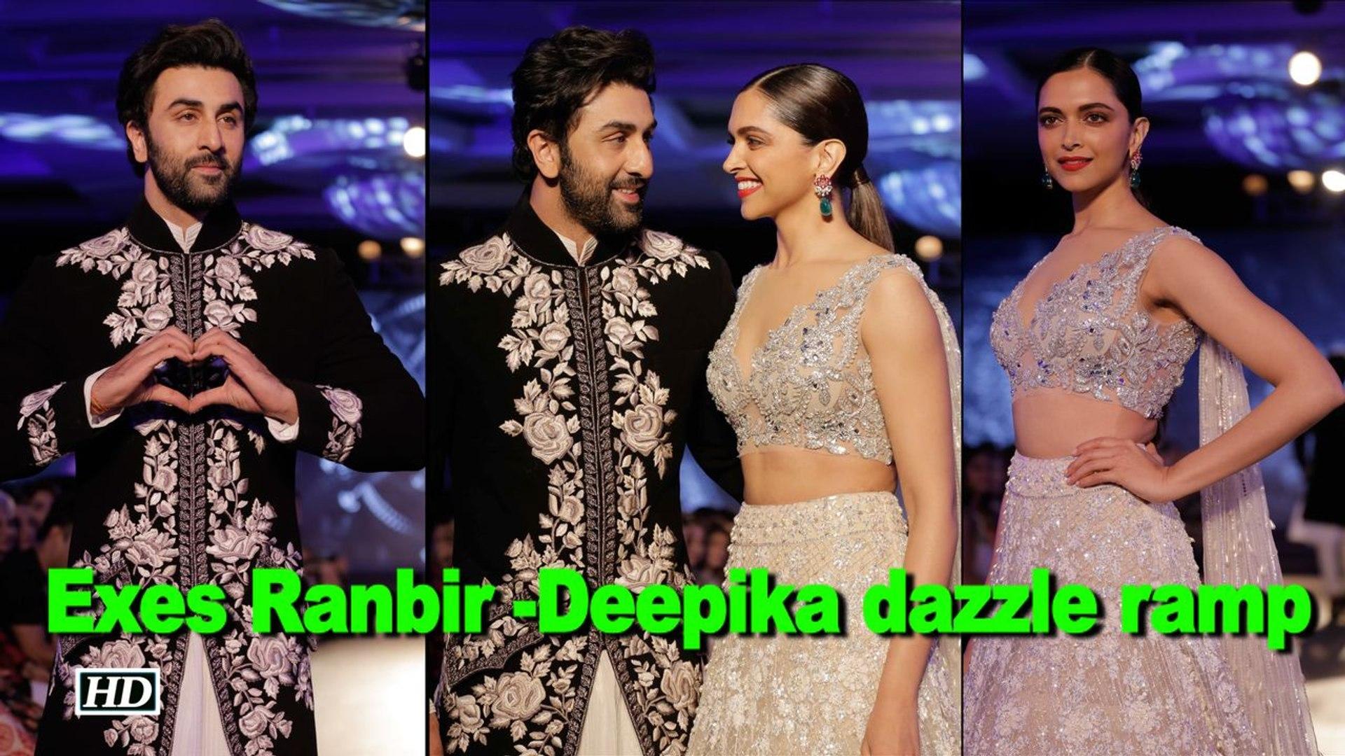 Exes Ranbir -Deepika dazzle ramp at Manish Malhotra show
