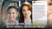 Shonda Rhimes, Ellen Pomeo Say Goodbye To 'Grey's' Sarah Drew | News Flash | Entertainment Weekly