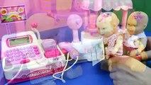Tia Fla e Produção Brincando Caixa Registradora Sorveteria Dora Mini Miudinha Tia Fla Kids
