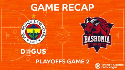 EuroLeague 2017-18 Highlights Playoffs Game 2: Fenerbahce 95-89 Baskonia