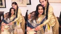 Sara Ali Khan Poses With Mom Amrita Singh and Dimple Kapadia