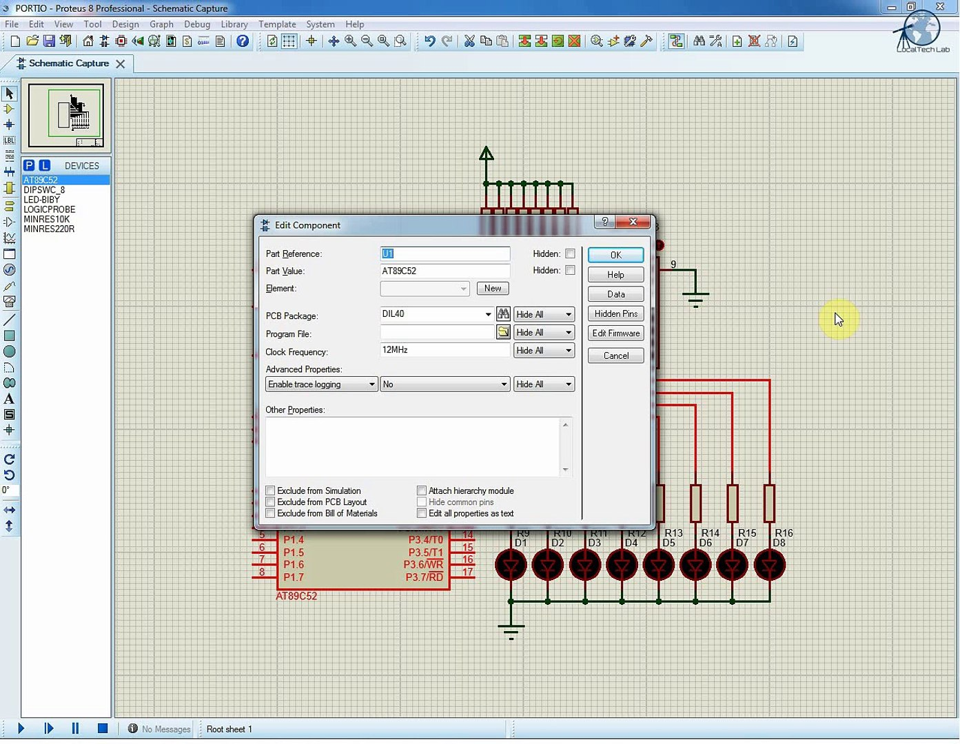 8051 I/O Port Programming using KEIL C with AT89S52 simulation on Proteus 8  and Prototyping Board