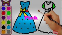 Draw and color videos for kids  How to Draw Dress for Girls - Pretty Dress for Girls and Kids| Colo | Educational child channel