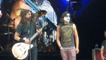 Foo Fighters live with a Kiss Guy Fan on Monkey Wrench