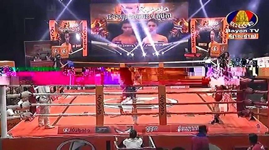 Chan Bunhoeun vs Thounpetch(thai), Khmer Boxing Bayon 20 April 2018, Kun Khmer vs Muay Thai | Godialy.com