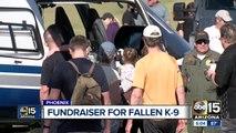 Fundraiser held in honor of fallen Phoenix police K-9
