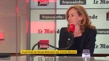 Le portrait de la ministre de la Justice, Nicole Belloubet, par Carine Bécard, dans Questions Politiques