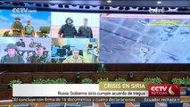 Rusia: Gobierno sirio cumple acuerdo de tregua
