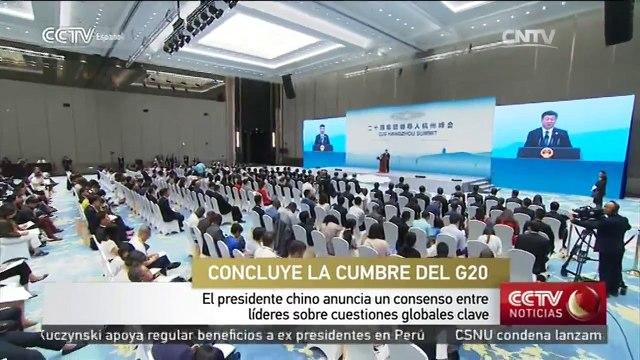 Líderes de G20 logran consenso sobre cuestiones globales clave