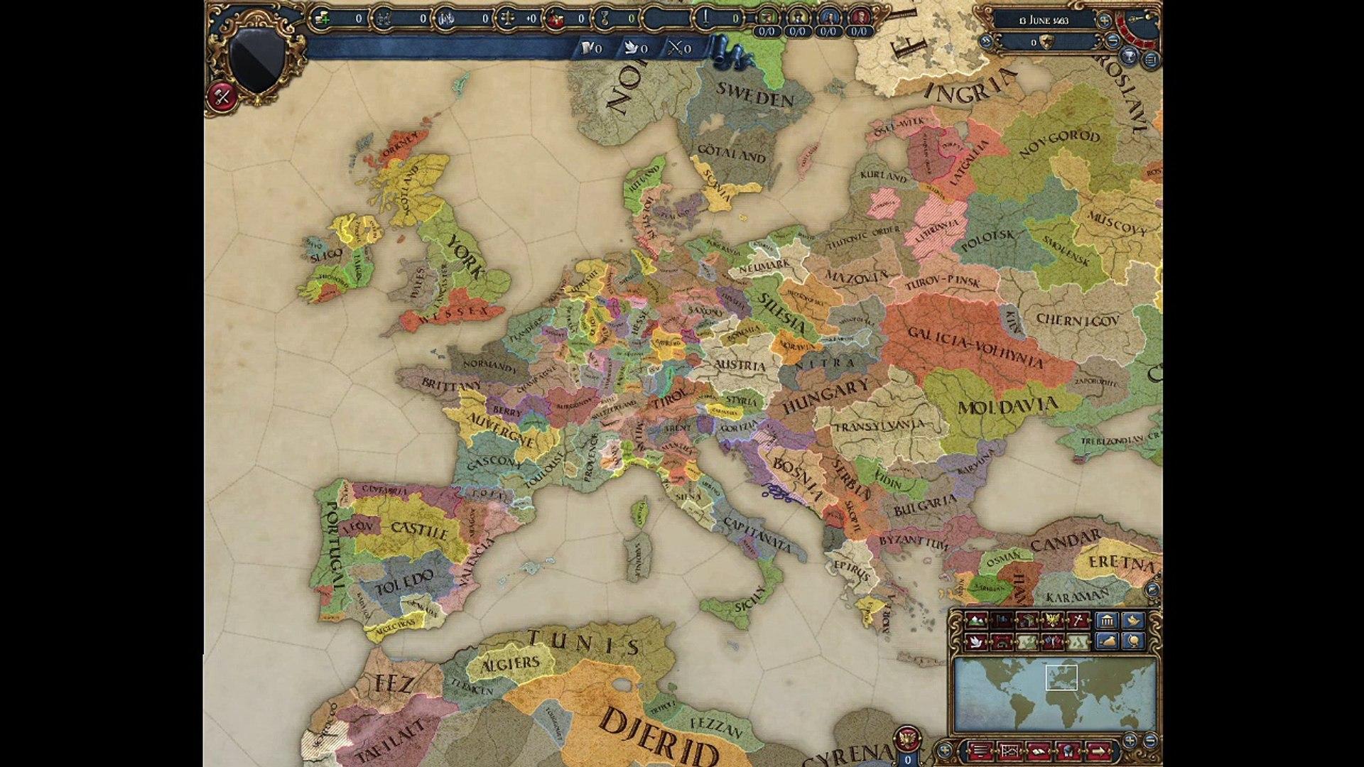 Europa Universalis IV Timelapse: Shattered Europa Mod