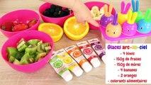 RECETTE GLACE ARC EN CIEL - GLACE AUX FRUITS SANS SUCRE  - FACILE ET RAPIDE •♡
