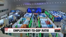 Korea's employment-to-GDP ratio falls to record low in 2017