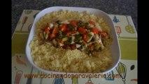 Receta de cous cous de verduras y pollo #Cocina rápida y fácil
