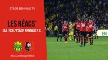 J34. FCN / Stade Rennais F.C. : Réactions