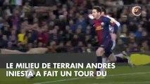 PHOTOS. Lionel Messi, Gerard Piqué, Andres Iniesta : les stars du FC Barcelone fêtent leur victoire avec leurs enfants