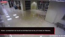 Texas : Deux hommes essayent de voler un distributeur de billets dans un tribunal (Vidéo)