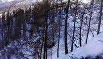 Une énorme avalanche de neige déclenchée à Tignes