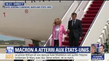 Emmanuel Macron vient d'arriver aux États-Unis accompagné de la Première dame Brigitte Macron pour trois jours de visite d'État