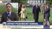 Visite d'Emmanuel Macron à Donald Trump: les deux couples présidentiels ont planté un arbre