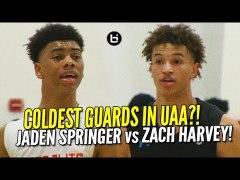 CRAZY GUARD BATTLE Jaden Springer vs Zach Harvey UAA Highlig