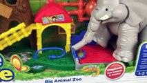 Fun Little People Big Animal Zoo | Thomas Toy Train Big Egg Surprise Opening & Kinder Eggs