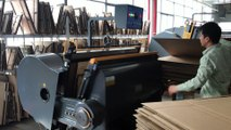 Corrugated cardboard boxes cutting in Fortune Printing & Packaging