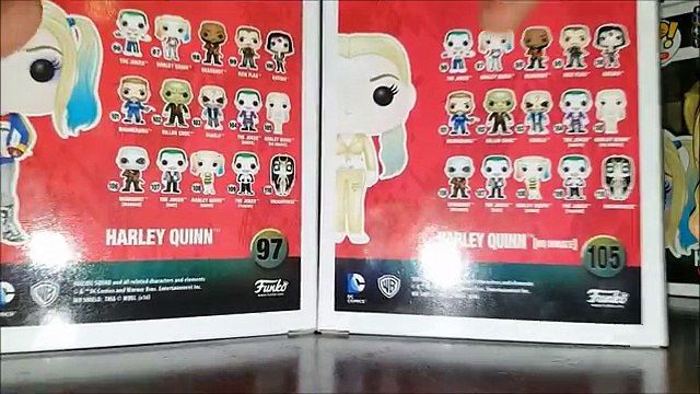 DC Suicide Squad: Harley Quinn and Harley Quinn HQ Inmate Funko Pop! Review! Gamestop Exclusive!