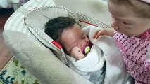 MOLLY STEALS PACIFIER FROM REAL BABY! MOLLY HITS JACKIE! REBORN BABY DOLL! TALKING DOLL! COMEDY BABY