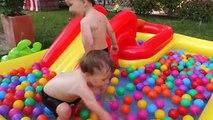 Playground wather Kids Pool Fun Balls - swimming pool with balls and slide
