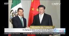 Xi Jinping se reúne con presidente de México y presidente del gobierno español